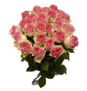 розы голландские в букете 15 шт,  доставка по Алматы